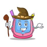 Witch school bag character cartoon. Vector illustration Royalty Free Stock Photo