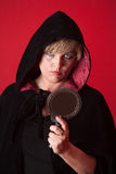 Witch With Scry Mirror Royalty Free Stock Image