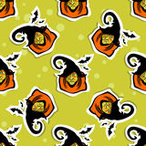 Witch seamless pattern Stock Photo