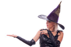 Witch showing your product Royalty Free Stock Images