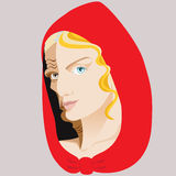 Witch. Sibyl. Two-faced woman. Fairy tale. Isolated background Stock Image