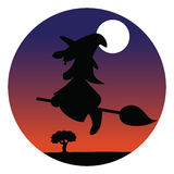 Witch silhouette Royalty Free Stock Photo