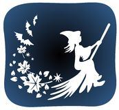 Witch silhouette Royalty Free Stock Photos
