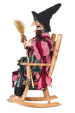 Witch Sitting in Rocking Chair Isolated Royalty Free Stock Photography