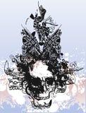 Witch skull illustration Royalty Free Stock Image