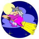 Witch in the sky Royalty Free Stock Photography