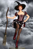 Witch in the sky Royalty Free Stock Image