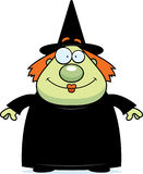 Witch Smiling. A cartoon witch standing and smiling Royalty Free Stock Photos