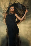 Witch in smoke Royalty Free Stock Photography