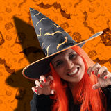 Witch sorcery. Halloween holiday with a witch sorcery Stock Images