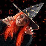 Witch sorcery. Halloween holiday with a witch sorcery Royalty Free Stock Photo