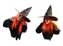 Witch sorcery and wrong spell. Isolated on white background Royalty Free Stock Images