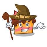Witch sponge cake mascot cartoon. Vector illustration Stock Image