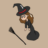 Witch stunned Royalty Free Stock Images