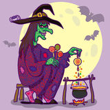 Witch with Sweets. Royalty Free Stock Images