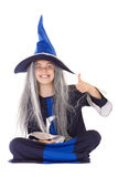 Witch thumbs up Royalty Free Stock Images