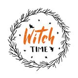 Witch time hand drawn text stock illustration