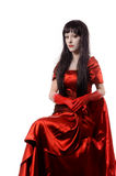 Witch vampire with black hairs Stock Photos