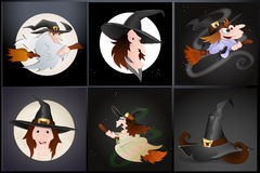 Witch Vectors Royalty Free Stock Image