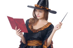 Witch with wand Royalty Free Stock Photography
