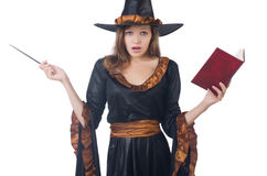 Witch with wand Stock Photos