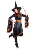 Witch with wand isolated Royalty Free Stock Image