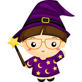 Witch with Wand Royalty Free Stock Photo