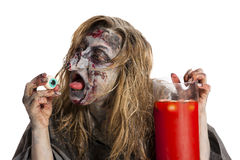 Witch wants to eat an eye Royalty Free Stock Photography