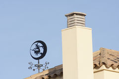 Witch weathervane Royalty Free Stock Photography