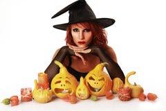 Witch on white Stock Photo