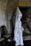 Witch - White lady. The form of the legendary White Lady on Orava Castle, Slovakia stock photography