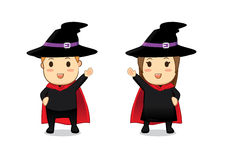 Witch and Wizard cartoon Royalty Free Stock Photography