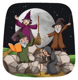 Witch and wizard Stock Photography