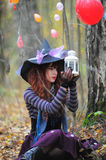 Witch in wood Stock Image