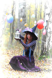 Witch in wood Royalty Free Stock Photos