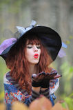 Witch in wood Royalty Free Stock Image