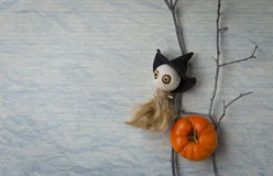 Witch wooden doll Stock Images