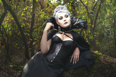 Witch in the woods. Royalty Free Stock Photography