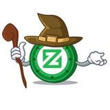 Witch Zcoin mascot cartoon style. Vector illustration Stock Photo
