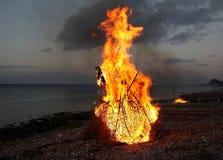 Witchburning tradizionale Fotografia Stock Libera da Diritti