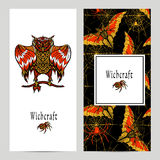 Witchcraft Magic Banner Set Stock Images
