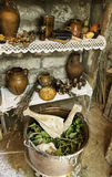 Objects of witchcraft to make magic. Witchcraft objects to do magic, detail of belief and mystery, fear Royalty Free Stock Photo