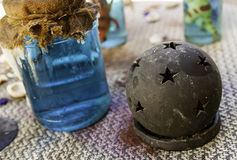 Objects of witchcraft to make magic. Witchcraft objects to do magic, detail of belief and mystery, fear Stock Image