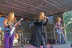 Witchers-Kredo-Metallband von Schweden lizenzfreie stockfotos