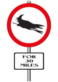 Witches Ahead Sign Stock Image