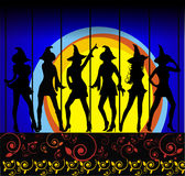 Witches Ball royalty free illustration