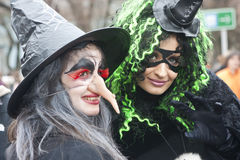 Witches in black Stock Image