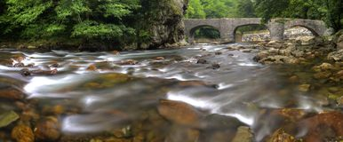 Witches Bridge on the River Leitzaran, Andoain Royalty Free Stock Image