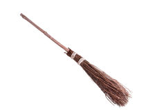 Witches Broomstick Stock Photo