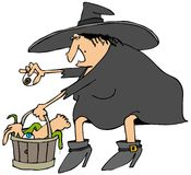 Witches bucket of parts Royalty Free Stock Photography